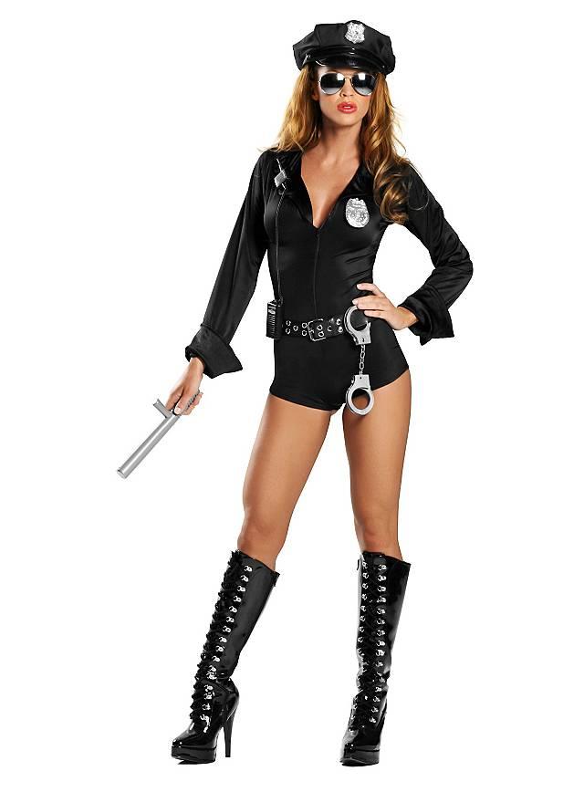 Sexy Sicherheitsbeamtin Kostüm