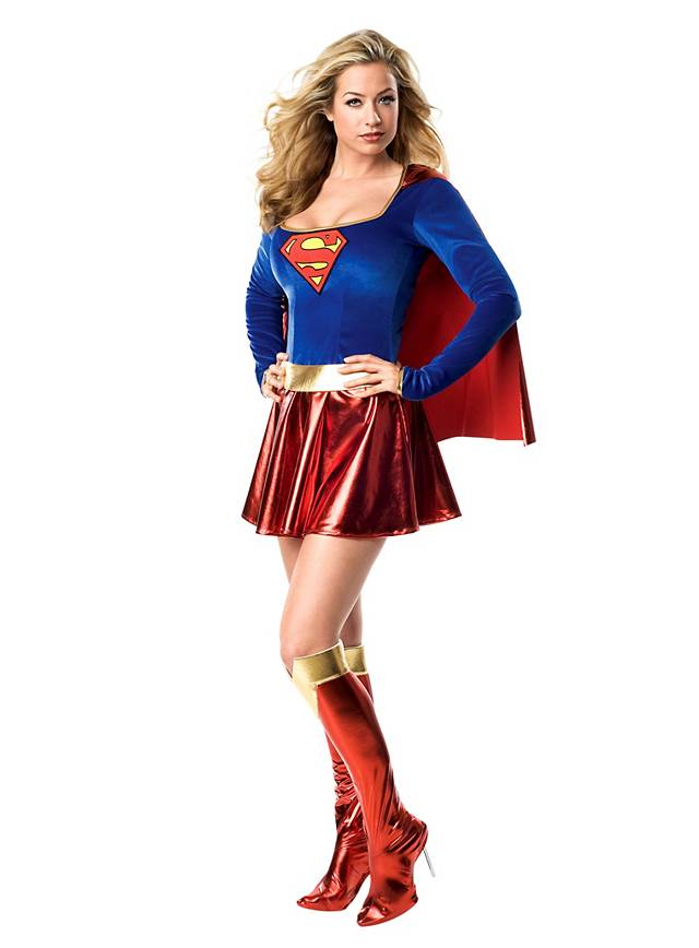Sexy Superhero Supergirl Dress
