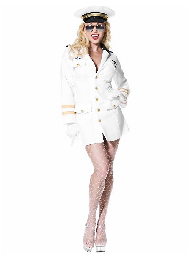 Sexy Top Gun Offizierin Kostüm
