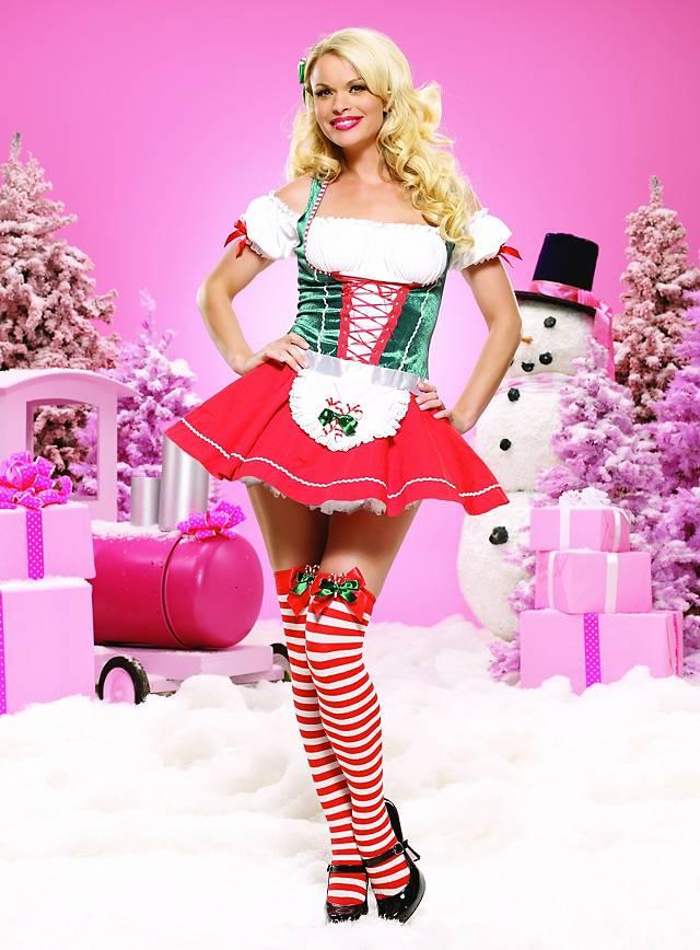 Sexy Weihnachtsdirndl Kostüm