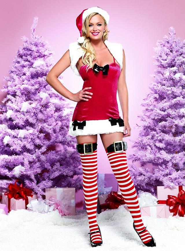 Sexy Weihnachtshelfer Kostüm