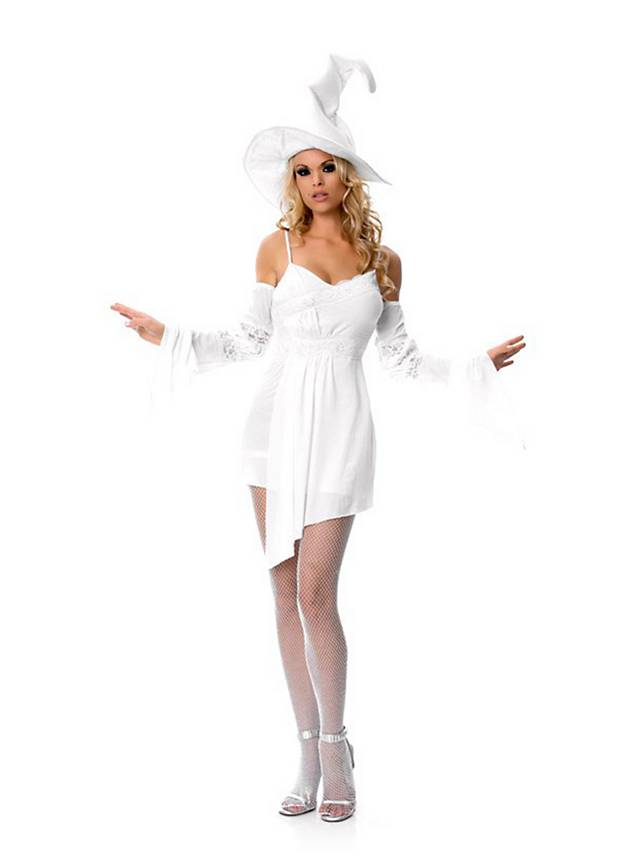Sexy Witch white Costume