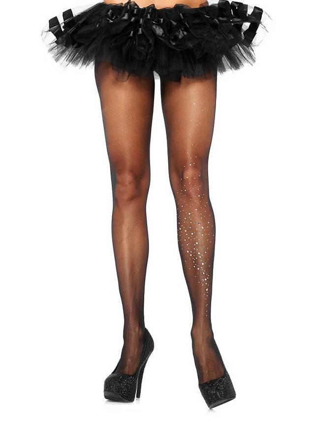 284dffc74c2 Sheer Pantyhose with Rhinestones black - maskworld.com