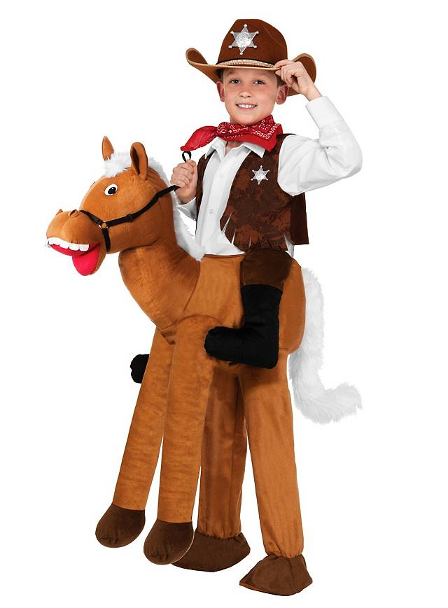 Reiter Kostum Aufsitzkostum Sheriff Fur Kinder Maskworld Com
