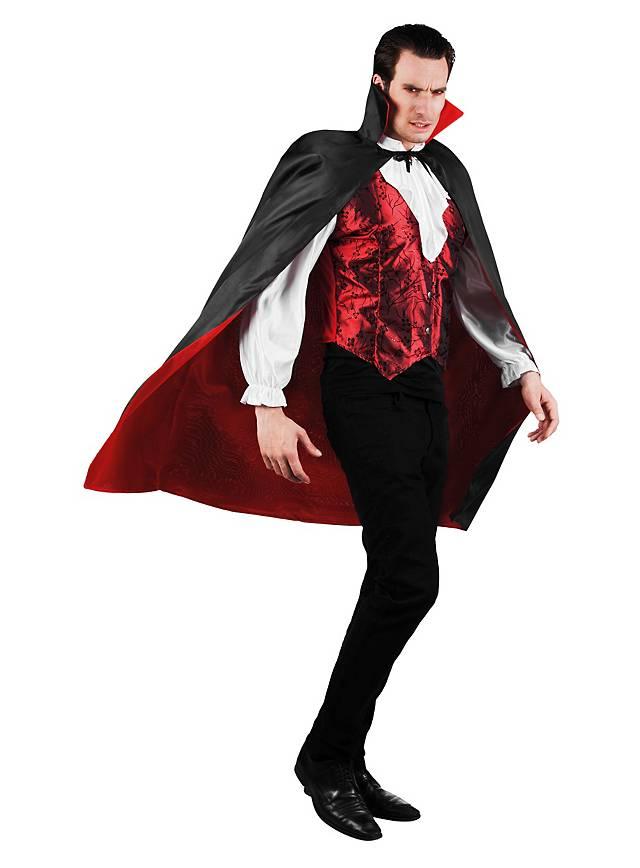 Short Reversible Vampire Cape black   red - maskworld.com 087df5ade19c7