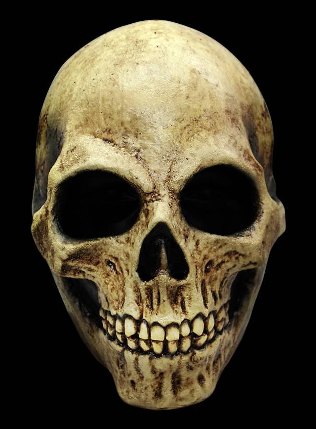 Skull knochenfarben Maske aus Latex