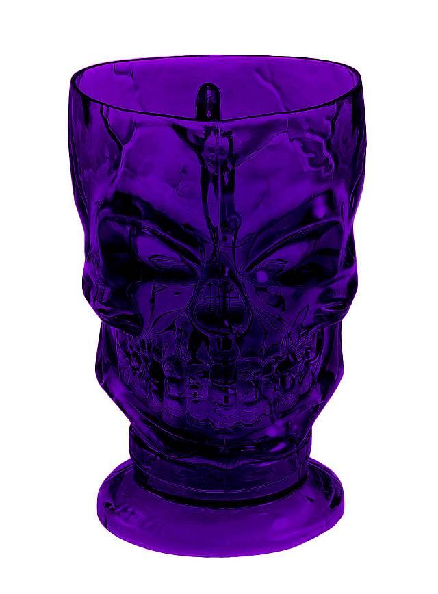 Skull Mug violet Halloween Decoration