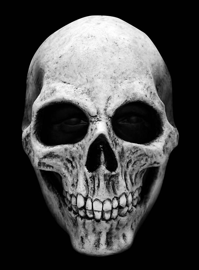 Skull weiß Maske aus Latex