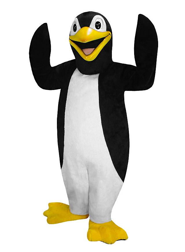 Smoking Pinguin Maskottchen