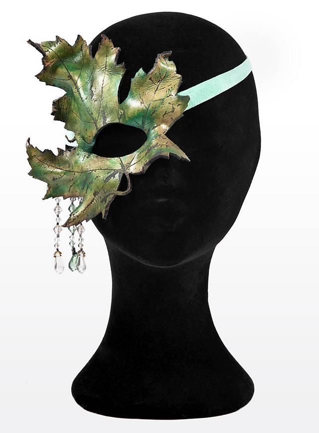 Sommernachts-Elfe Ahornblatt Halbseitige Augenmaske aus Leder