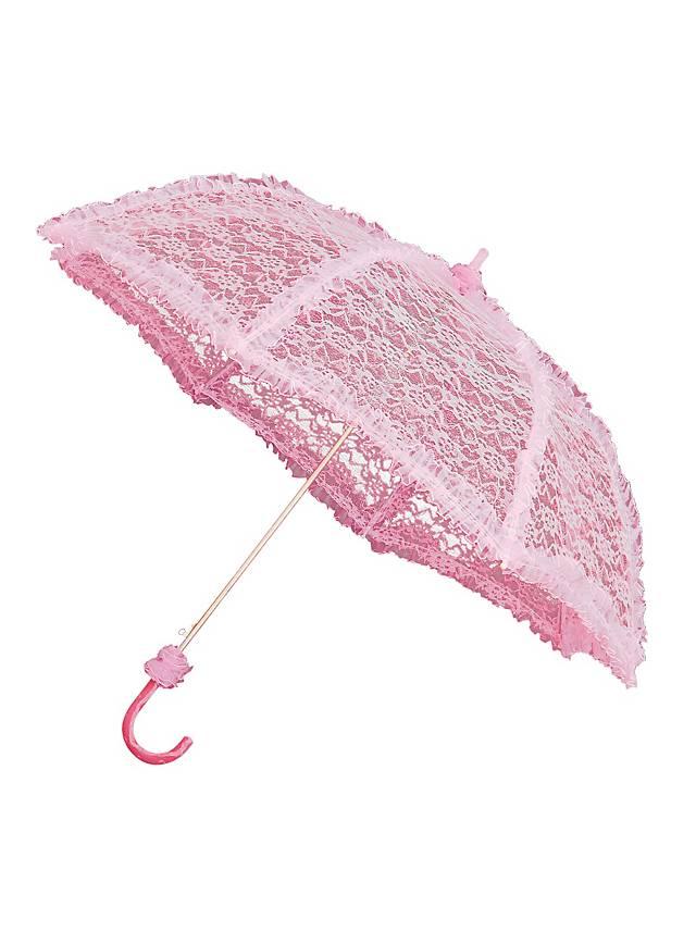 Sonnenschirm mit Spitze rosa