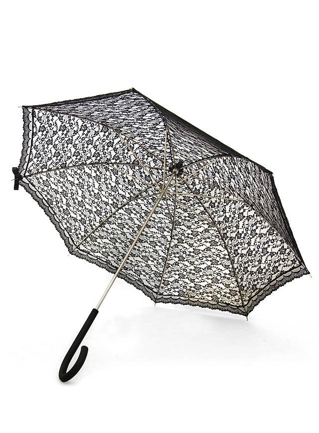 Sonnenschirm mit Spitze schwarz
