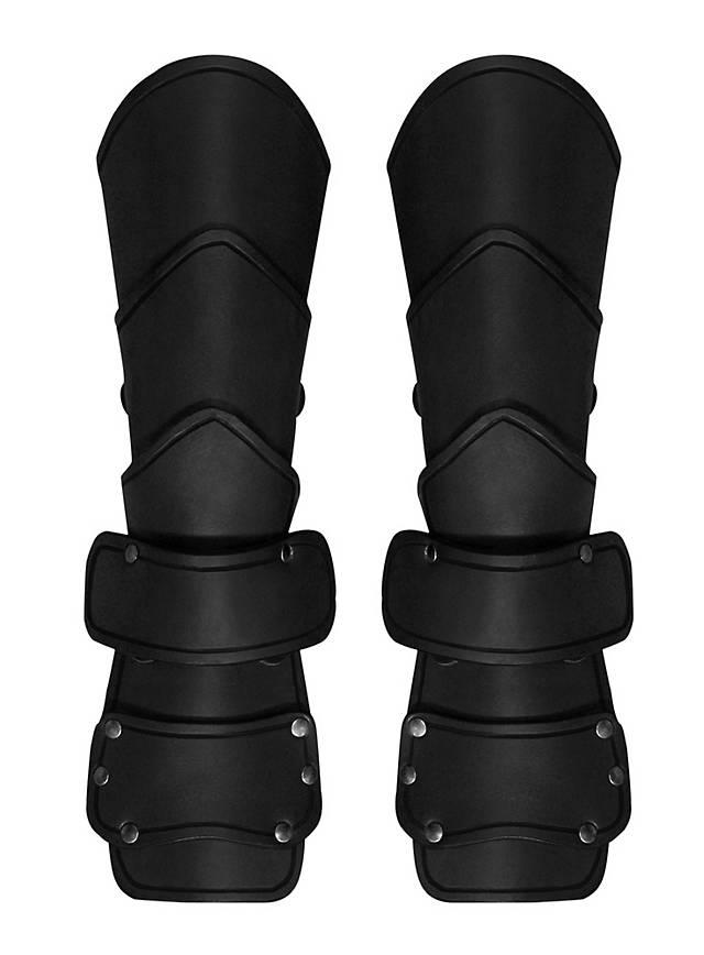 Späher Armschienen Deluxe mit Handschutz schwarz