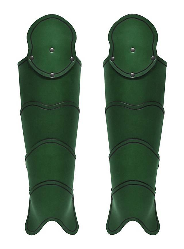 Späher Beinschienen grün