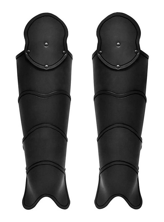 Späher Beinschienen schwarz