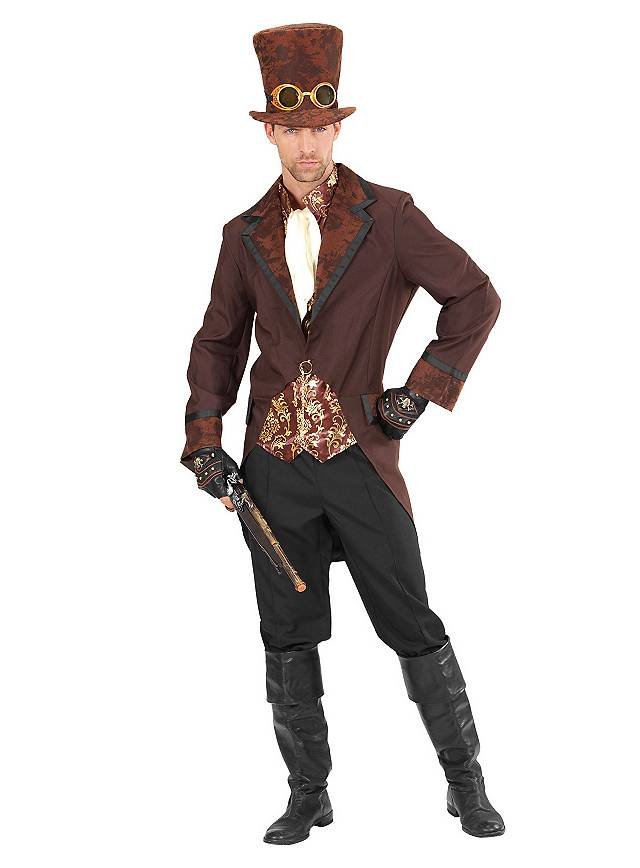 worn once Adult Size Theatricals Aviator Steampunk Costume 9 pieces