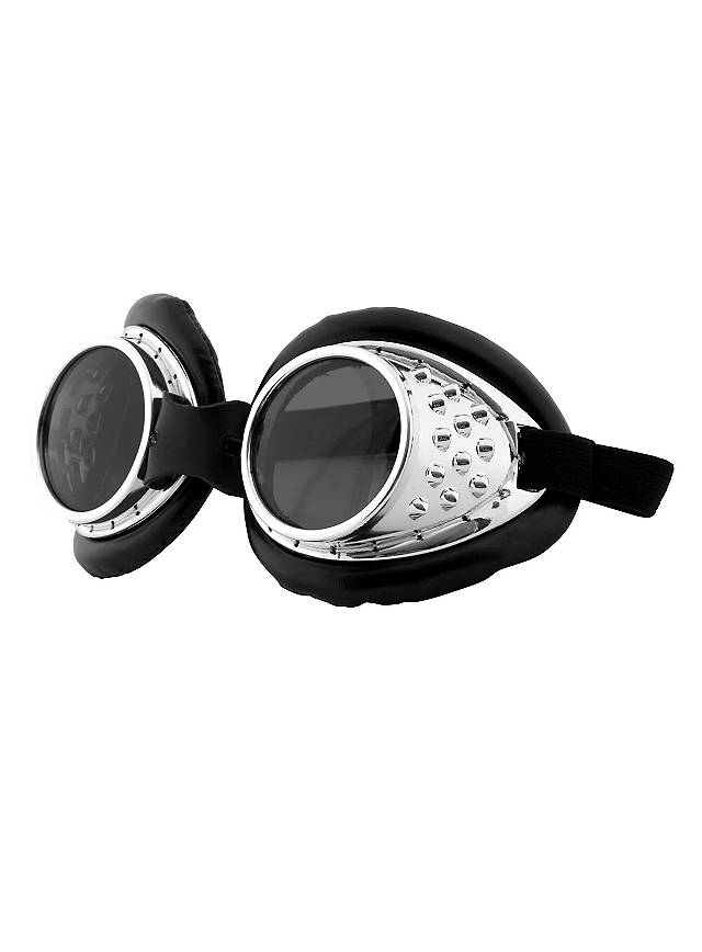 Steampunk Aviator Goggles silver