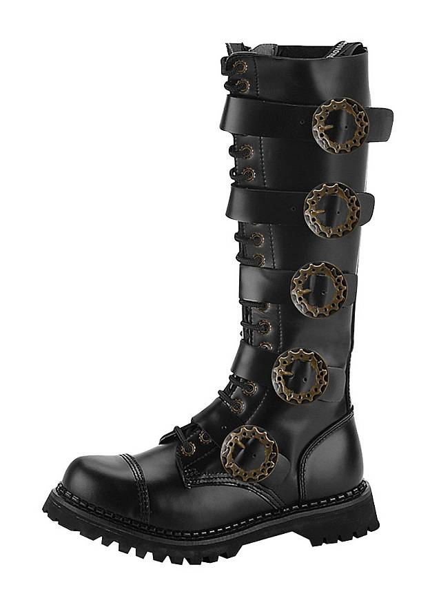 Steampunk Boots Men black