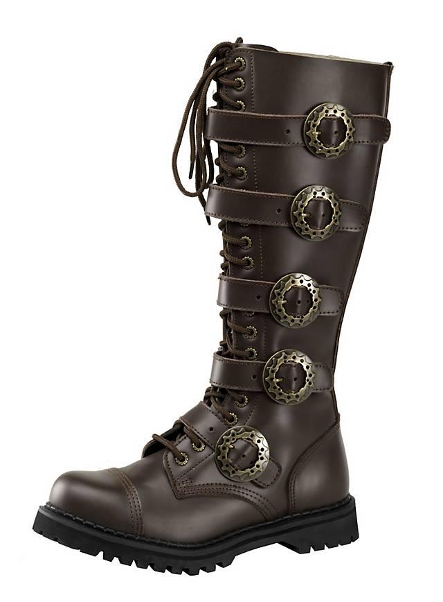 steampunk boots men black maskworldcom