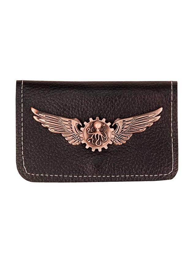 Steampunk Brieftasche mit Kupfer-Plakette