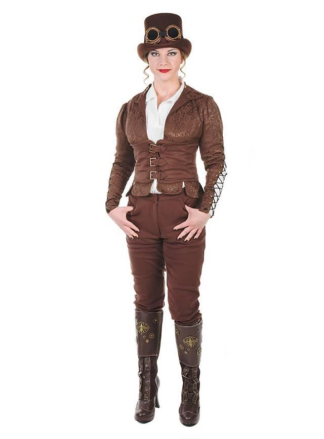 Steampunk Corset Coat brown