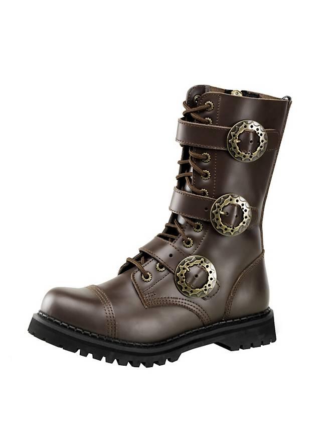 separation shoes 60f77 da4ca Steampunk Schuhe Herren braun