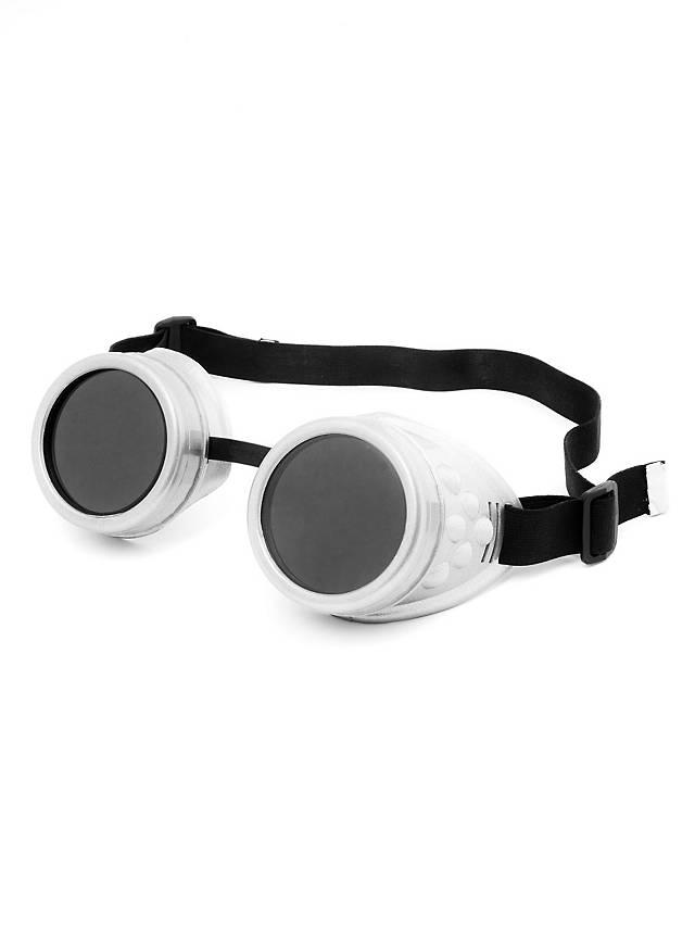 Steampunk Welder Goggles white