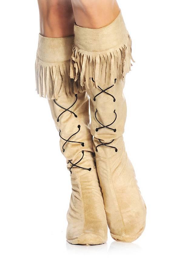 Stiefelstulpen Indianerfrau