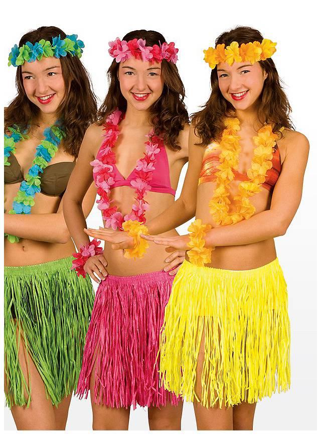 Strandkostüm Hawaii gelb