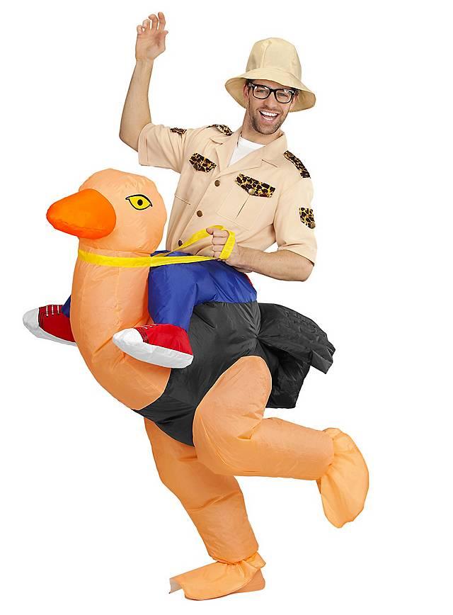 Strauß-Reiter Aufblasbares Kostüm