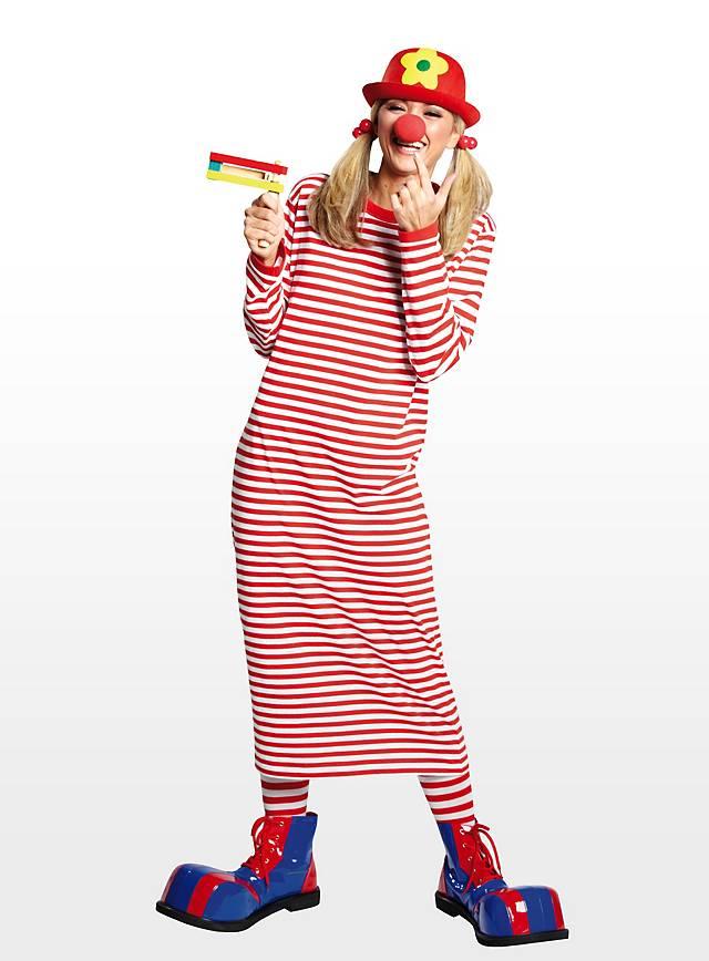 Striped Nightshirt red-white