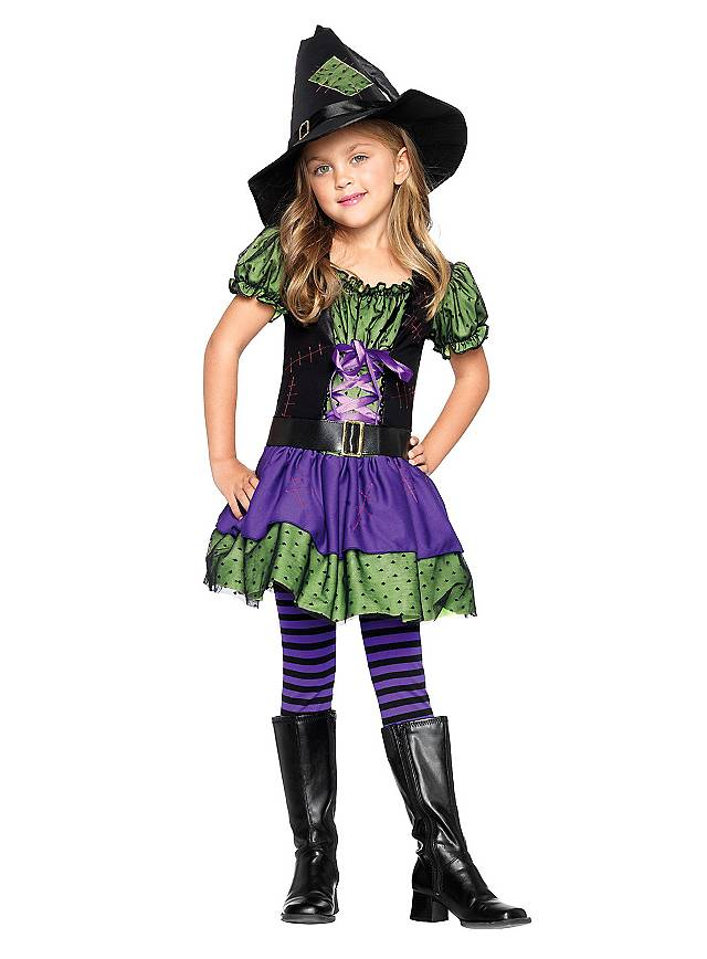 Striped Tights black & purple for Kids