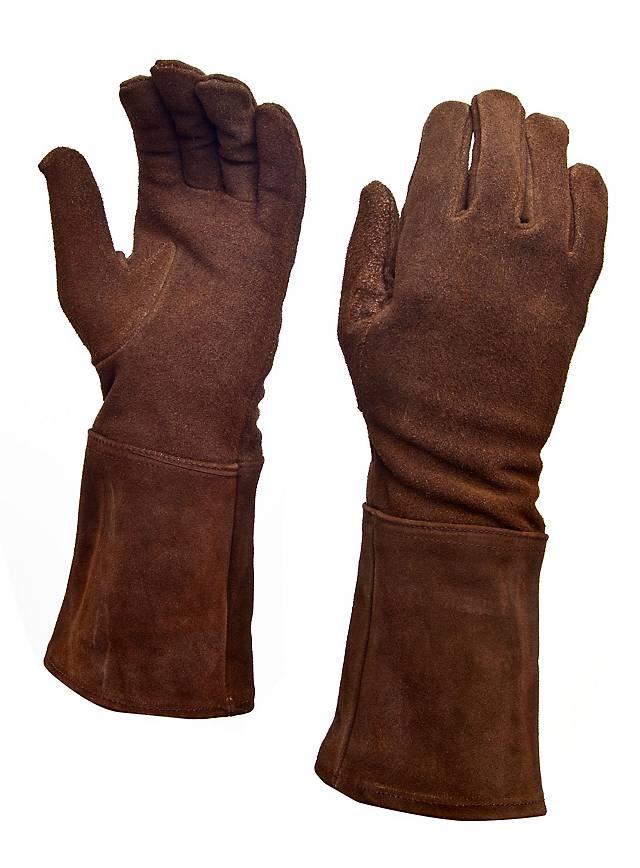 Suede Gauntlets dark brown
