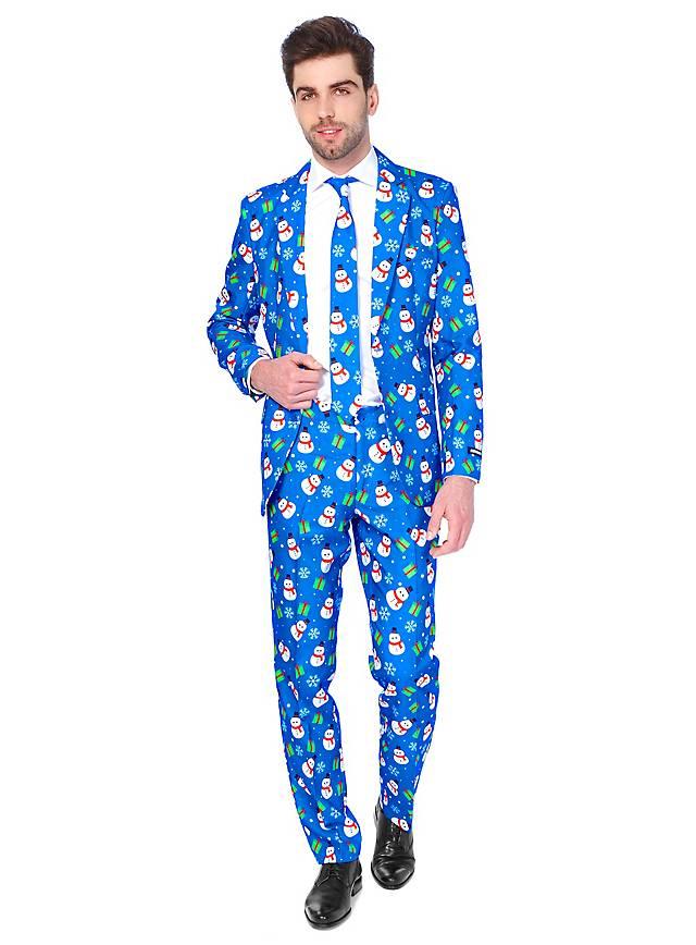 SuitMeister Blue Snowman Party Suit