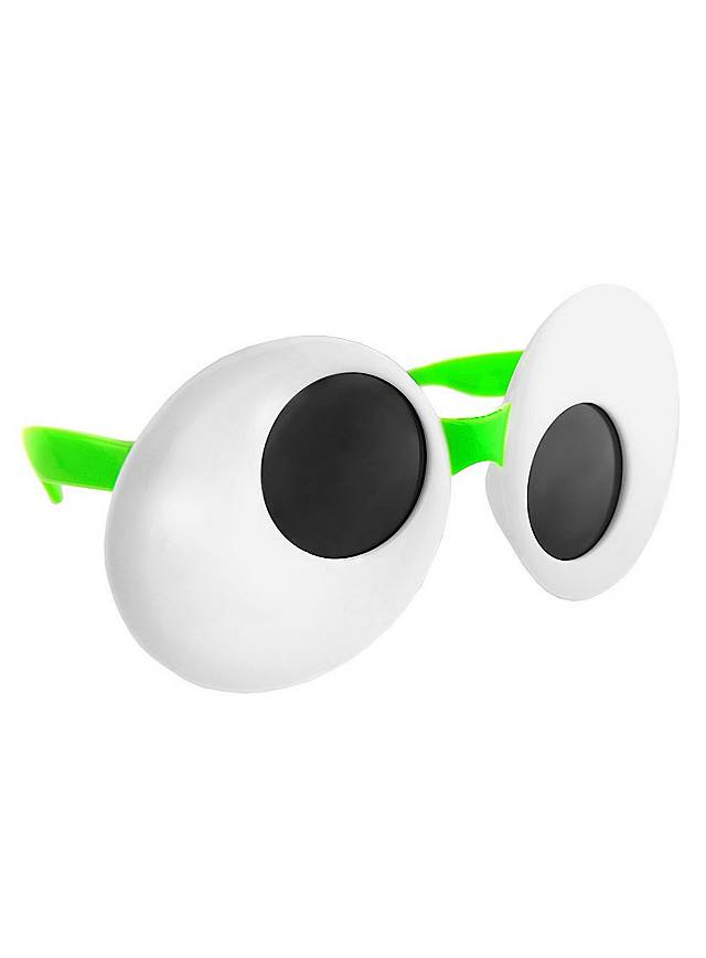 sun staches googly eyes green party glasses
