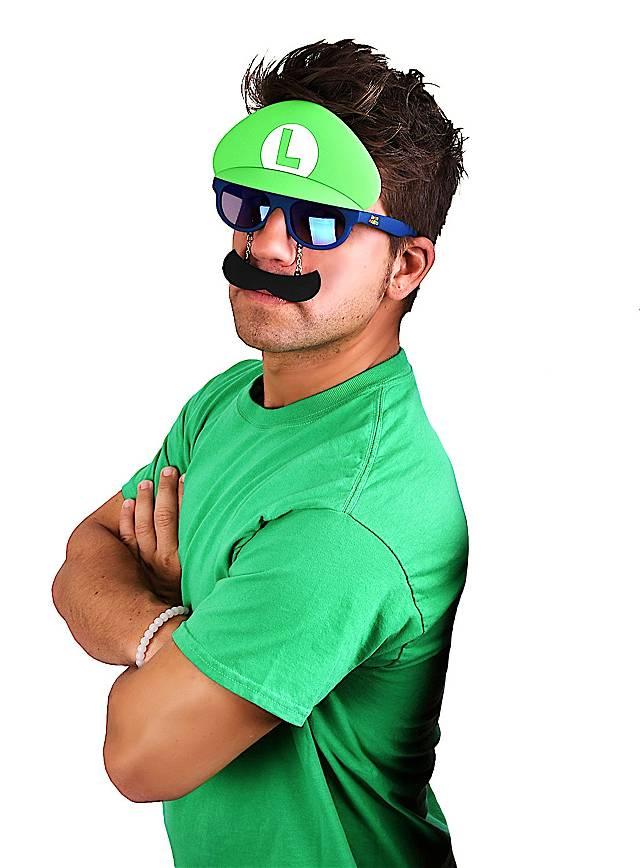 35666f06cb8 Sun Staches Luigi Party Glasses - maskworld.com