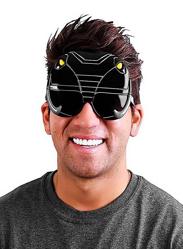Sun-Staches Schwarzer Power Ranger Partybrille