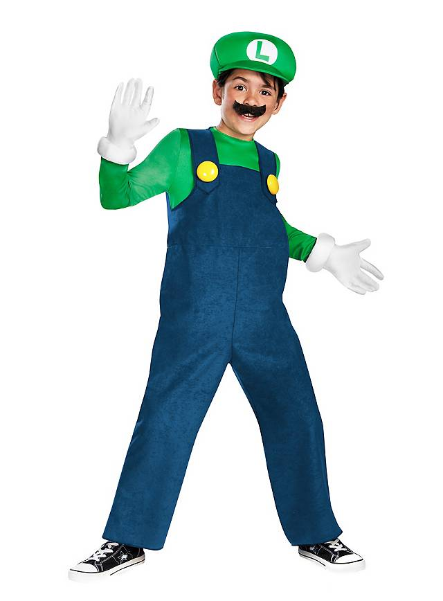 Super Mario Luigi Kinderkostüm