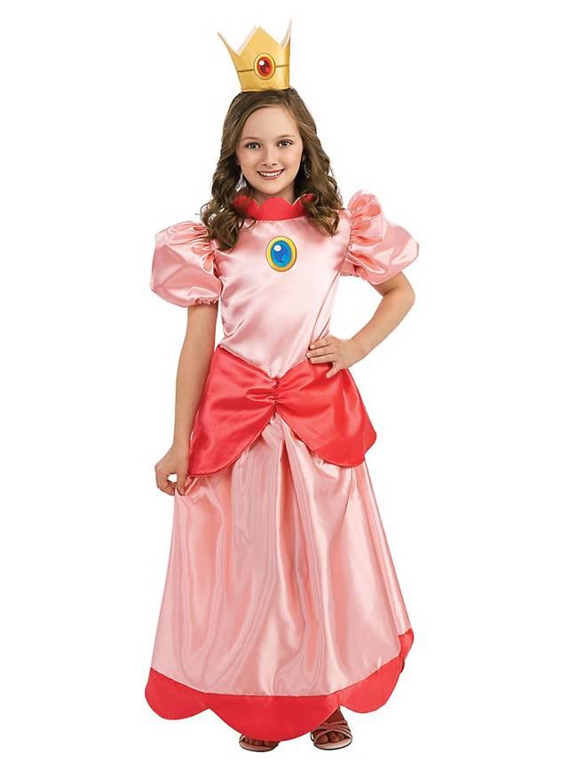 Super Mario Prinzessin Peach Kinderkostüm