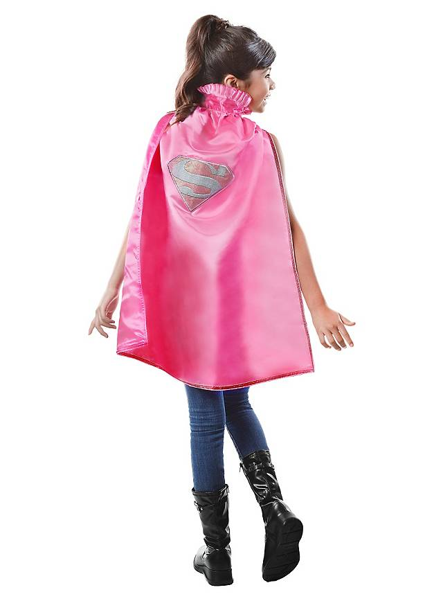 Supergirl pink Cape for Kids