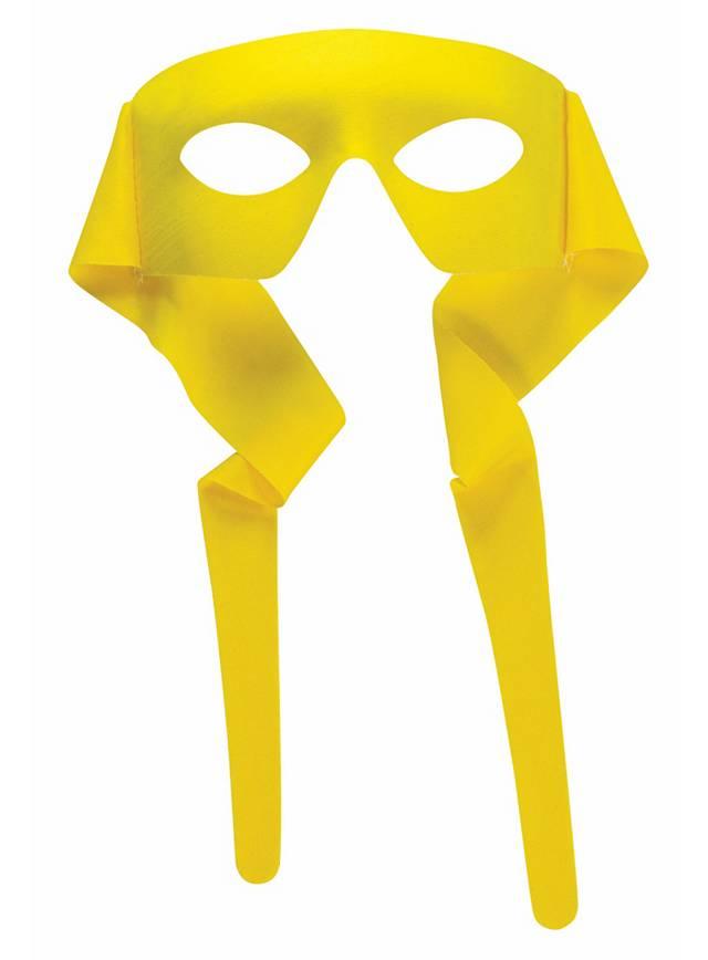 Superhelden-Maske gelb