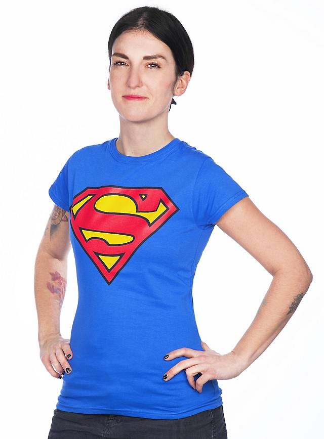 Superman Girlie Shirt Logo