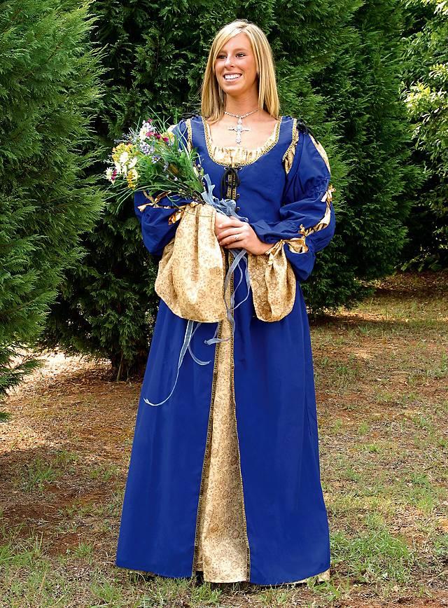 Surcot de femme de chambre bleu