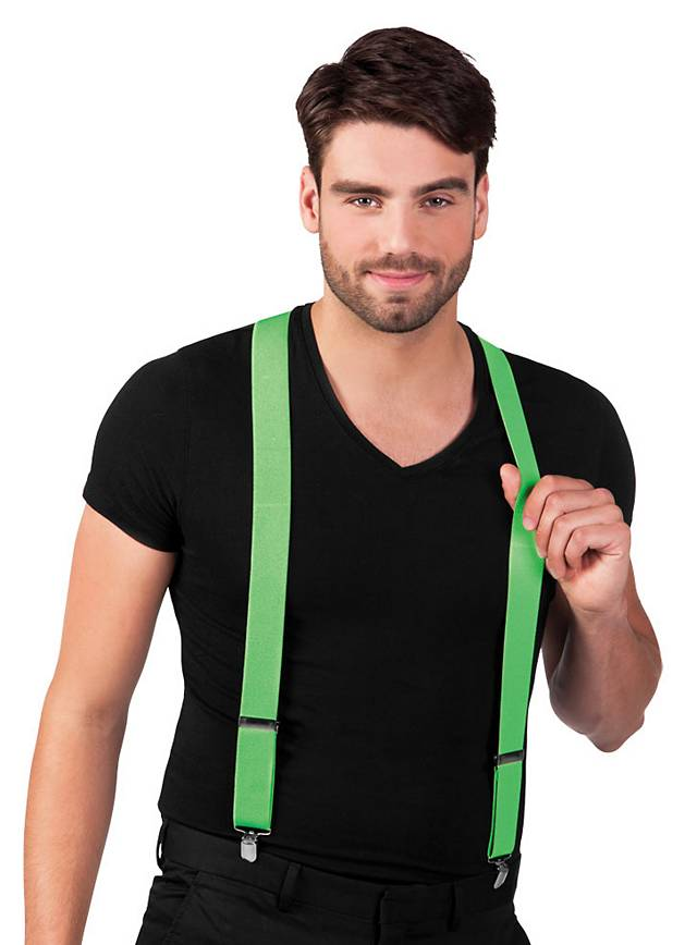 Suspenders neon green