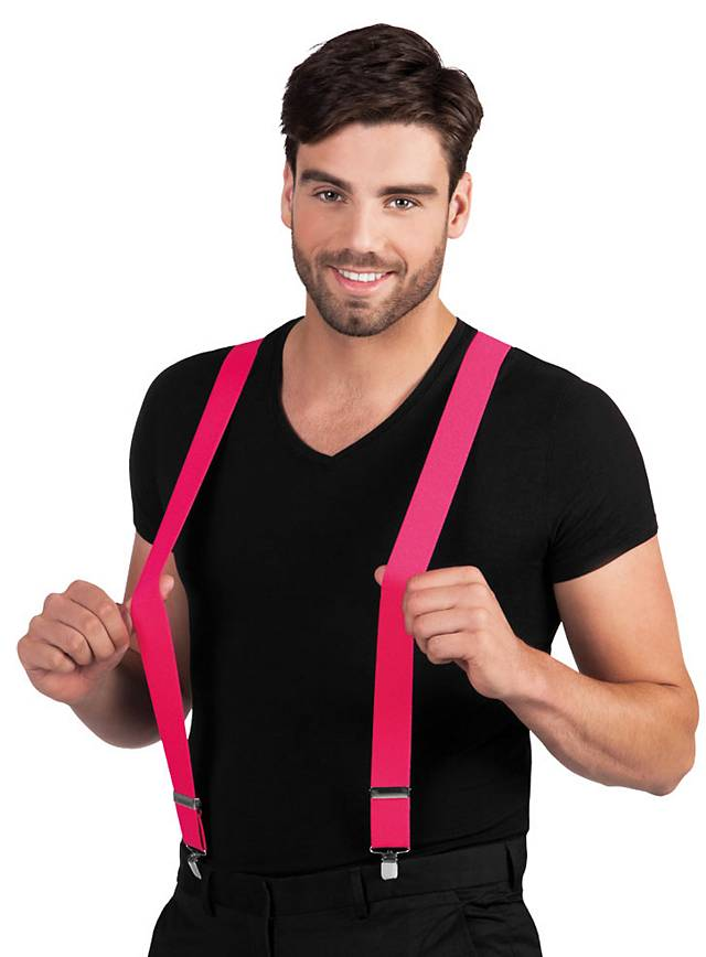 Suspenders neon pink