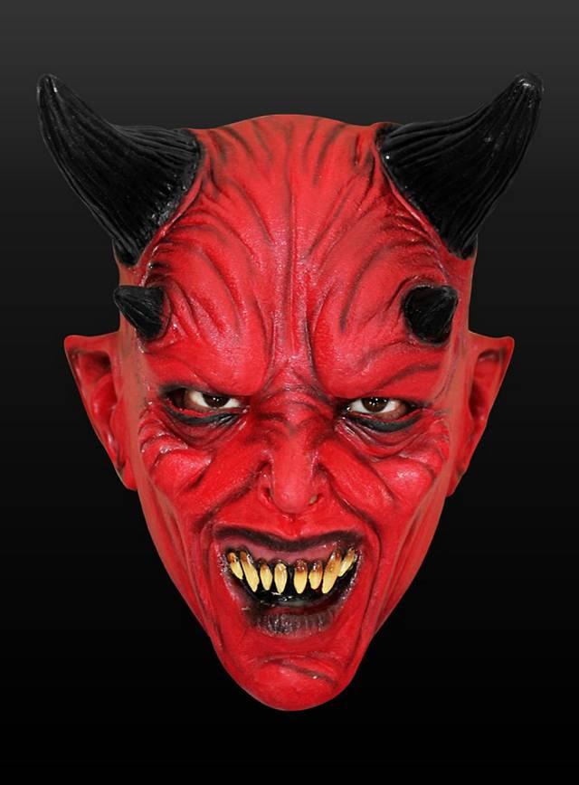 Teufel Kindermaske aus Latex