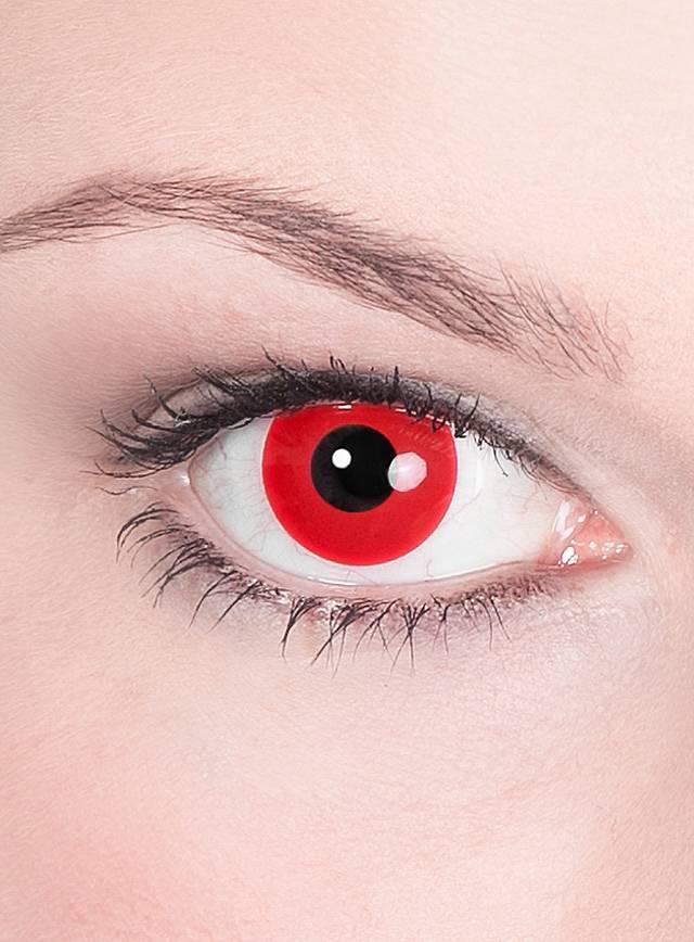 Rote Kontaktlinsen Motiv Teufel