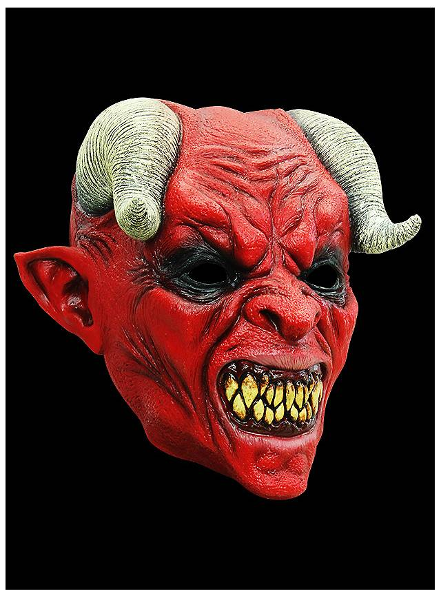 Teufel Maske des Grauens aus Latex