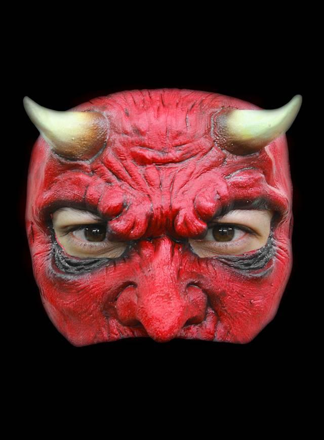 Teufelsgesicht Halbmaske aus Latex
