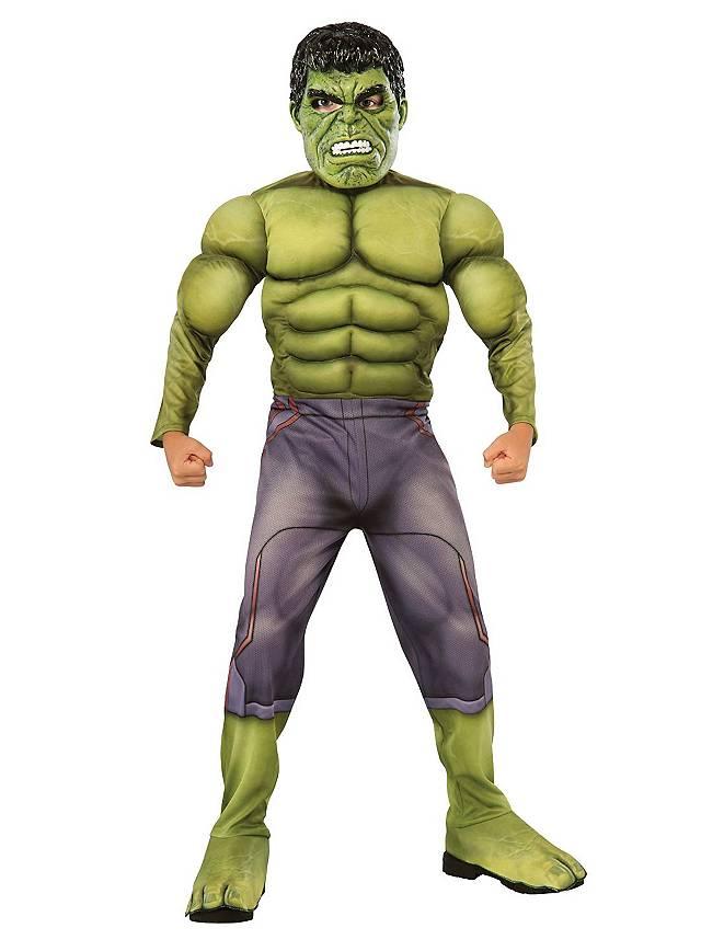 The Avengers Hulk mit Muskeln Kinderkostüm
